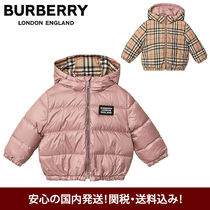BURBERRY リバーシブル♪ふかふかベビーダウン 耐水性  ピンク