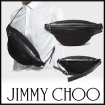 ◆JIMMY CHOO◆DERRY ナイロン×レザー ボディバッグ