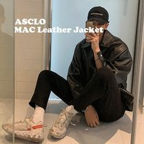 ◆ASCLO(エズクロ)◆Man's Over fit Mac Leather Jacket