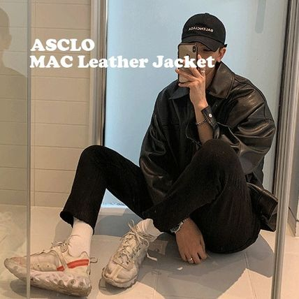 ASCLO レザージャケット ◆ASCLO(エズクロ)◆Man's Over fit Mac Leather Jacket