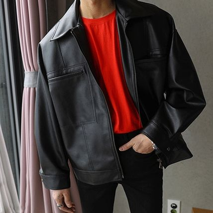 ASCLO レザージャケット ◆ASCLO(エズクロ)◆Man's Over fit Mac Leather Jacket(5)