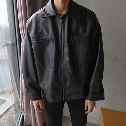 ASCLO レザージャケット ◆ASCLO(エズクロ)◆Man's Over fit Mac Leather Jacket(7)