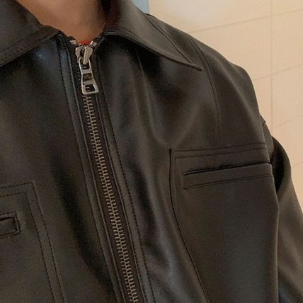 ASCLO レザージャケット ◆ASCLO(エズクロ)◆Man's Over fit Mac Leather Jacket(8)