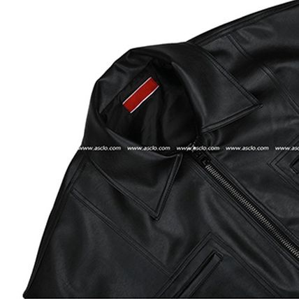 ASCLO レザージャケット ◆ASCLO(エズクロ)◆Man's Over fit Mac Leather Jacket(10)