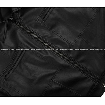 ASCLO レザージャケット ◆ASCLO(エズクロ)◆Man's Over fit Mac Leather Jacket(12)