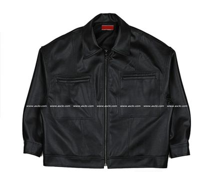 ASCLO レザージャケット ◆ASCLO(エズクロ)◆Man's Over fit Mac Leather Jacket(13)