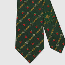 GUCCI☆ネクタイDouble G pineapples and strawberries silk tie
