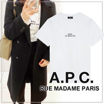 A.P.C.(アーペーセー) Tシャツ・カットソー 【日本限定】A.P.C. T-SHIRTS PETITE RUE MADAME ロゴTシャツ