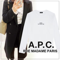 A.P.C.(アーペーセー) Tシャツ・カットソー 【日本限定】A.P.C. T-SHIRTS PETITE RUE MADAME ロンT 長袖