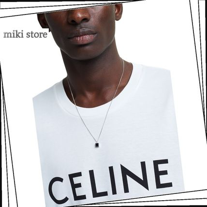 CELINE ネックレス・チョーカー 【CELINE】 sharpネックレス in solid silver and onyx(2)