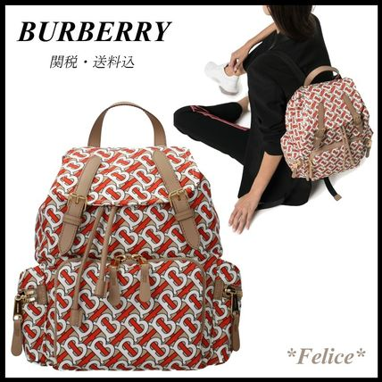Burberry バックパック・リュック *BURBERRY*モノグラムプリント バックパック 関税/送料込