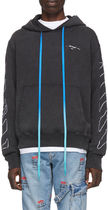OFF-WHITE★ABSTRACT ARROWS SLIM HOODIE 抽象ロゴ パーカー黒
