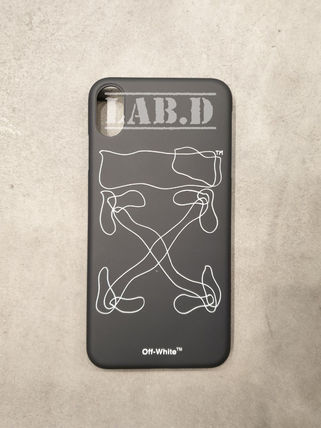 Off-White スマホケース・テックアクセサリー Off-White*ABSTRACT ARROWS 抽象アロー iPHONE XS MAXケース 黒(4)