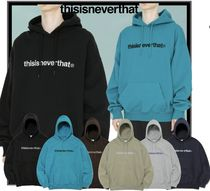 ★関税込★thisisneverthat★T-LOGO HOODED SWEATSHIRT★6色★