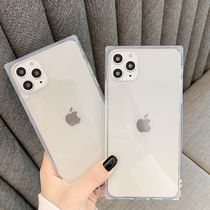iPhone11 ケース pro MAX iPhoneXs XR 透明 スクエア クリア