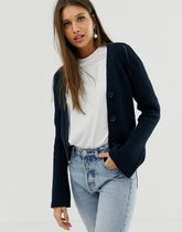 ASOS DESIGN cropped boyfriend cardigan in rib