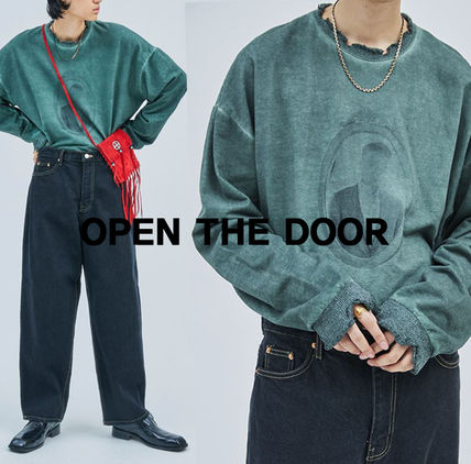 OPEN THE DOOR Damage Washed Print MTM (2 color) - men  s764