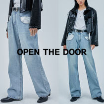 OPEN THE DOOR  maxi pocket denim pants  s764