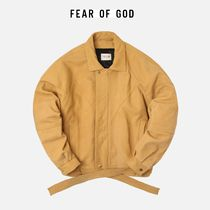 ☆海外正規品☆FEAR OF GOD PANELLED LEATHER JACKET BROWN