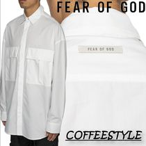 Fear of God FW19 L/S Button Up, White ボタンアップ、ホワイト