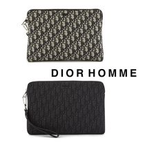 【DIOR HOMME】《Dior Oblique》ジャカード クラッチ◆追跡付♪