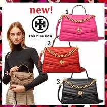 新作 Tory Burch Kira Chevron Top Handle Satchel 2Way