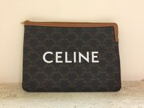 ★NEW★【CELINE】Triomphe Canvas クラッチバッグ (Tan)