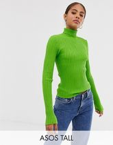 ASOS DESIGN Tall roll neck jumper in fine knit rib