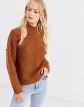 Only highneck rib knitted jumper