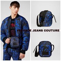 VERSACE JEANS COUTURE☆ロゴバロッククロスボディバッグ