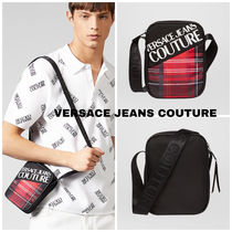 VERSACE JEANS COUTURE☆タータンチェックカメラロゴバッグ