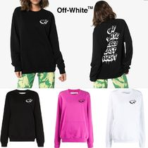 OFF-WHITE / graffiti oversized sweatshirt【関税,送料無料】