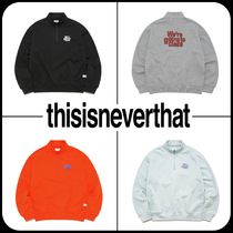 [ Thisisneverthat ] ★ GOING TO CLASS HALF ZIP PULLOVER ★