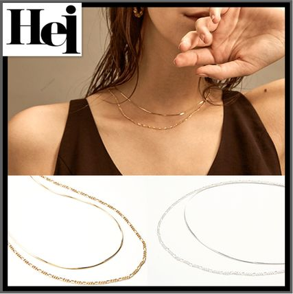 Hei ネックレス・ペンダント ★イベント中/関税込★Hei★two lines chain necklace★2色★