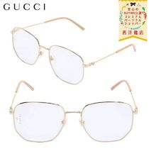 【正規品保証】GUCCI★19/20秋冬★METAL GLASSES W/CLEAR LENSES
