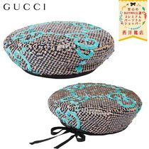 【正規品保証】GUCCI★19/20秋冬★SEQUINED GG BASCO HAT_BLU