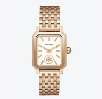 Tory Burch ROBINSON WATCH, ROSE GOLD-TONE/CREAM, 27 X 29 MM