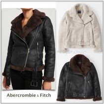 Abercrombie☆NEW!Faux Shearling Moto Jacket