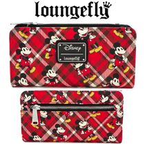 【Lounge Fly】●ディズニー●RED PLAID TWILL BI-FOLD WALLET