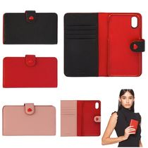 MiuMiu Madras leather cover for iPhone X and XS 5ZH106_2BC3