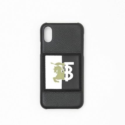 Burberry スマホケース・テックアクセサリー BURBERRY Contrast Logo Graphic Leather iPhone X/XS Case(2)