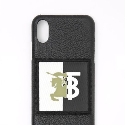 Burberry スマホケース・テックアクセサリー BURBERRY Contrast Logo Graphic Leather iPhone X/XS Case(3)