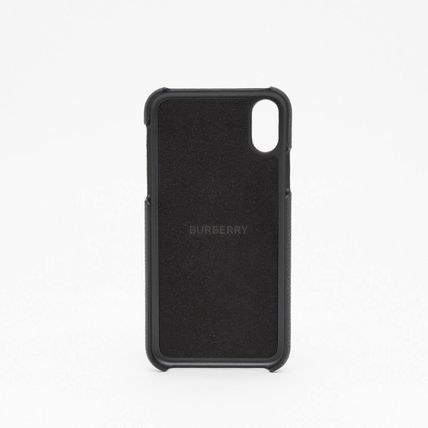 Burberry スマホケース・テックアクセサリー BURBERRY Contrast Logo Graphic Leather iPhone X/XS Case(4)