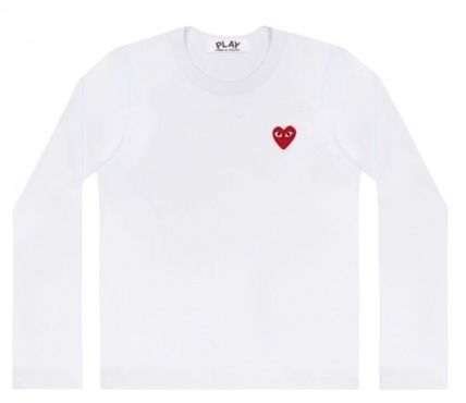 COMME des GARCONS Tシャツ・カットソー レディース PLAYCOMME des GARCONS  長袖Tシャツ ハートロゴ(3)