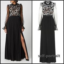 Self Portrait Guipure lace maxi dress