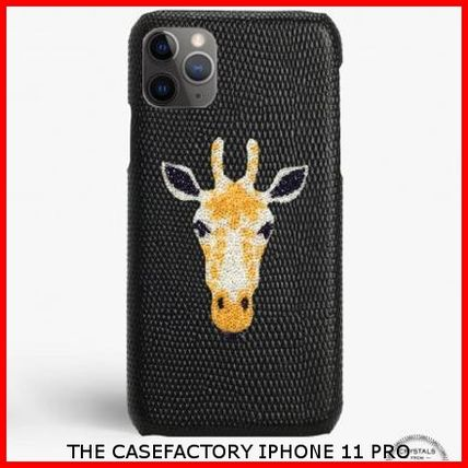 THE CASE FACTORY スマホケース・テックアクセサリー 関税送料込☆THE CASEFACTORY☆IPHONE 11 PRO SWAROVSKI GIRAFFE