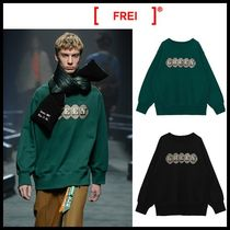 ☆FREIKNOCK☆ スウェット GREEN PRINTED SWEATSHIR 2色