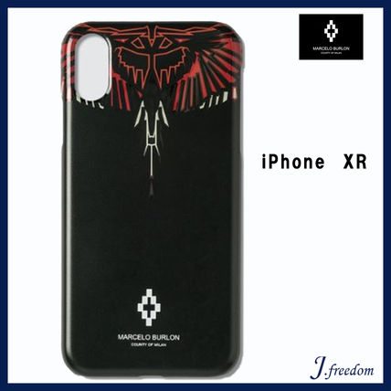 Marcelo Burlon スマホケース・テックアクセサリー 関税送料込★Marcelo Burlon ★ Geometric Wings iPhone XR Case