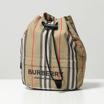 BURBERRY ポーチバッグ 8015051 バーバリーチェック巾着バッグ