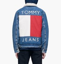 【入手困難】TOMMY JEANS FLAG LOGO SHERPA DENIM JACKET